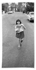 Girl On 13th Street, 1971 Bath Towel