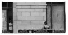 Girl On A Bench, New Village Bath Towel