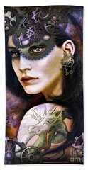 Girl With Dragon Tattoo Hand Towel