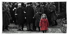 Girl With Red Coat Publicity Photo Schindlers List 1993 Bath Towel