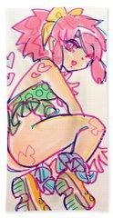Girl01 Hand Towel