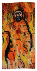 Hand Towel featuring the painting Addictions by Ron Richard Baviello