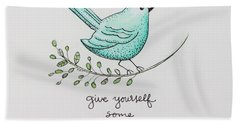 Give Yourself Some Grace Bath Towel by Elizabeth Robinette Tyndall