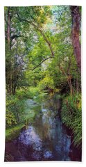 Hand Towel featuring the photograph Giverny Paradise by John Rivera