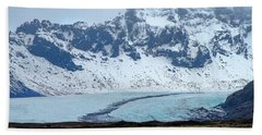 Hand Towel featuring the photograph Glacier And Mountain, Iceland by Pradeep Raja PRINTS