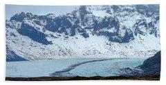 Bath Towel featuring the photograph Glacier And Mountain, Iceland by Pradeep Raja PRINTS