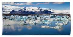 Hand Towel featuring the photograph Glacier Lagoon In Iceland by Matthias Hauser
