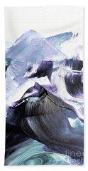 Glacier Mountains Bath Towel