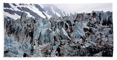 Glaciers Closeup - Alaska Bath Towel