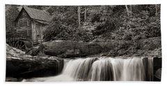 Glade Creek Grist Mill Monochrome Bath Towel