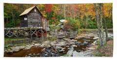 Glade Creek Grist Mill In Autumn Bath Towel
