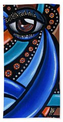 Abstract Eye Art Acrylic Eye Painting Surreal Colorful Chromatic Artwork Bath Towel