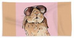 Glamorous Rabbit Hand Towel by Katrina Davis