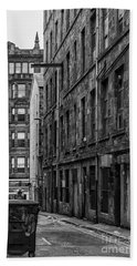 Glasgow Backstreet Monochromatic Bath Towel