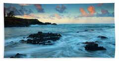 Glass Beach Dawn Hand Towel by Mike  Dawson