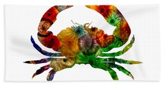 Glass Crab Hand Towel