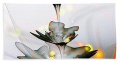 Bath Towel featuring the mixed media Glass Flower by Anastasiya Malakhova