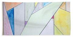 Glass-scrapers Bath Towel by J R Seymour