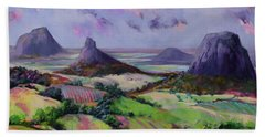 Glasshouse Mountains Dreaming Bath Towel