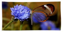 Glasswing Butterfly Bath Towel by Living Color Photography Lorraine Lynch