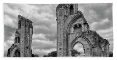 Bath Towel featuring the photograph Glastonbury Abbey by Elvira Butler