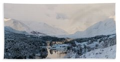 Glen Affric In The Snow Hand Towel