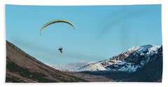 Glen Alps Paragliding Hand Towel