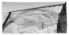 Glen Canyon Bridge Bw Hand Towel