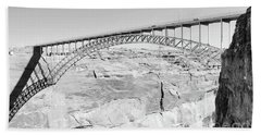 Glen Canyon Bridge Bw Bath Towel