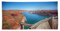 Bath Towel featuring the photograph Glen Canyon Dam by Anne Rodkin