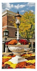 Bath Towel featuring the painting Glen Ellyn Watering Trough by Christopher Arndt