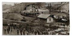 Glen Lyon Pa Susquehanna Coal Co Breaker Late 1800s Bath Towel
