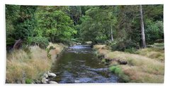 Hand Towel featuring the photograph Glendasan River. by Terence Davis