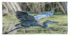 Gliding Over The Wetlands... Hand Towel