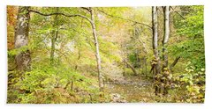 Glimpse Of A Stream In Autumn Bath Towel by A Gurmankin