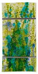 Hand Towel featuring the painting Glimpse Of Spring by Carolyn Rosenberger