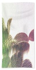 Glitch Cactus Hand Towel