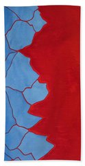Glitch In The Matrix Original Painting Bath Towel