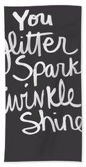 Glitter Sparkle Twinkle Hand Towel