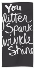 Glitter Sparkle Twinkle Bath Towel