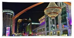 Bath Towel featuring the photograph Glitz And Glamour In Cleveland Ohio by Frozen in Time Fine Art Photography