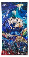 Planet  Earth - Our Family Tree Bath Towel