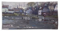 Gloomy And Rainy Day By Hyde Park Hand Towel by Ylli Haruni