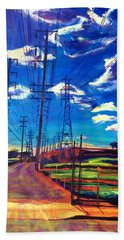 Glorious Afternoon Hand Towel by Bonnie Lambert