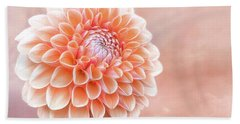 Glorious Salmon Dahlia Bath Towel