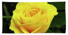 Glorious Yellow Rose Bath Towel