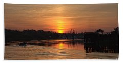 Glory Of The Morning On The Water Hand Towel