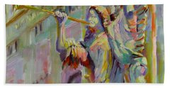 Hand Towel featuring the painting Glory To God In The Highest by Chris Brandley