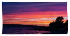 Gloucester Harbor Beach Hand Towel