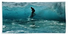 Glow Of The Surf Hand Towel by Craig Wood